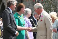 Prince Charles meeting the Town Mayor