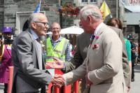 Prince Charles meeting former Mayor Robin Pike