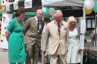 The Royal Couple, the Town Mayor and the Town Clerk