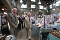 Prince Charle and the Town Clerk in the Pannier Market